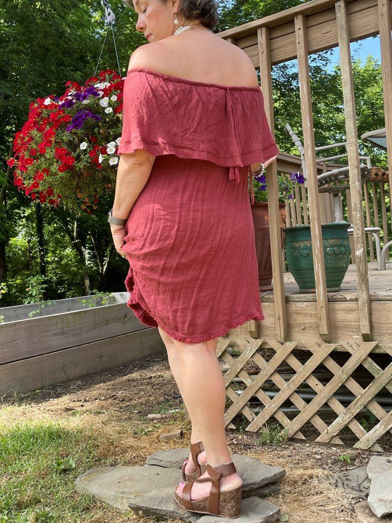 Fancy Red Dress - Back